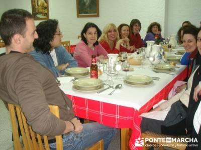 Después de la aventura la buena cena; senderismo en la comunidad de madrid